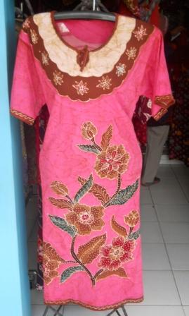 baju daster batik hamil